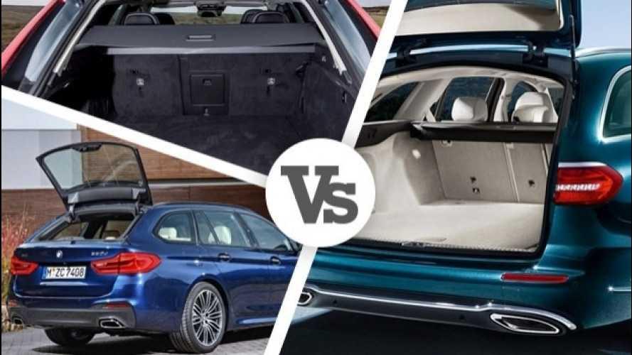 BMW Serie 5 Touring, carica più della Volvo V90, meno della Mercedes E SW