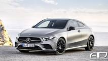 2019 Mercedes A-Class Coupe Rendering