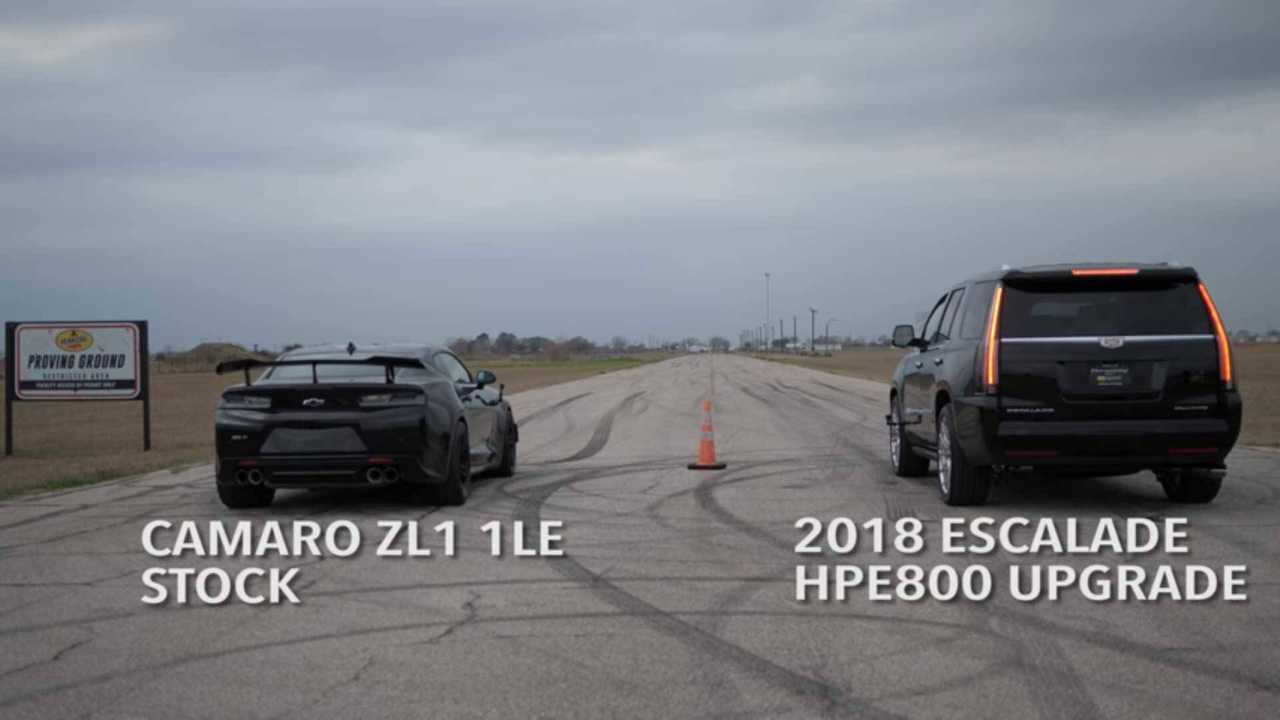 Hennessey Escalade vs. Chevy Camaro ZL1