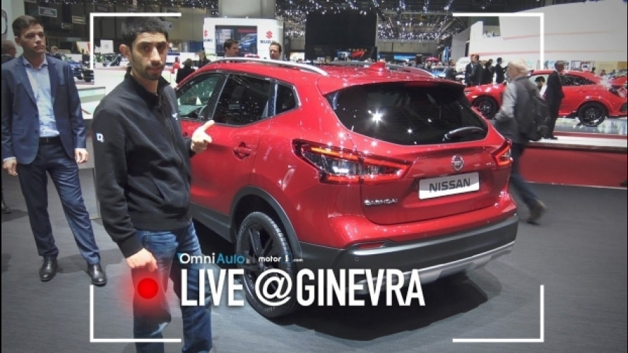 Salone di Ginevra, Nissan Qashqai il restyling da vicino  [VIDEO]
