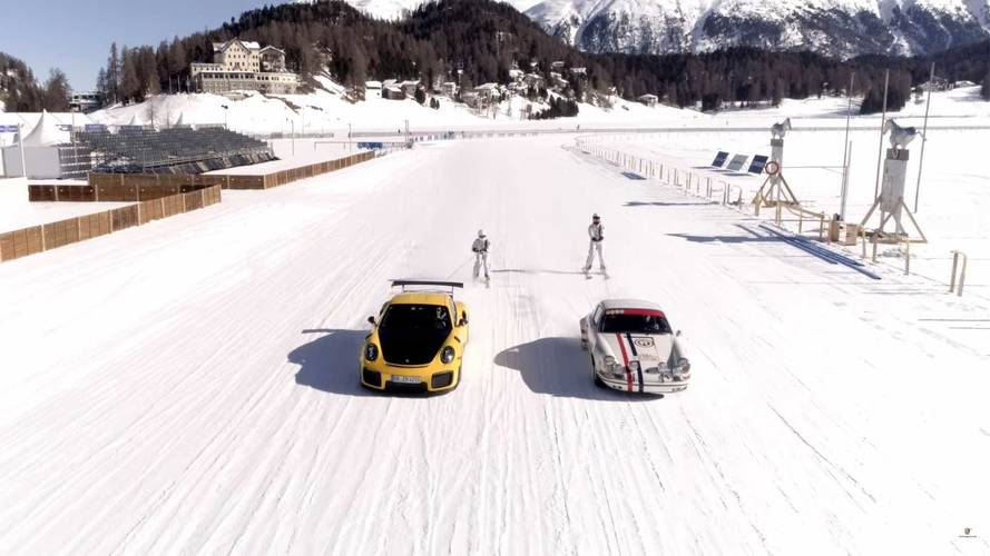 See A Porsche 911S And GT2 RS Perform Ice Ballet On Frozen Lake