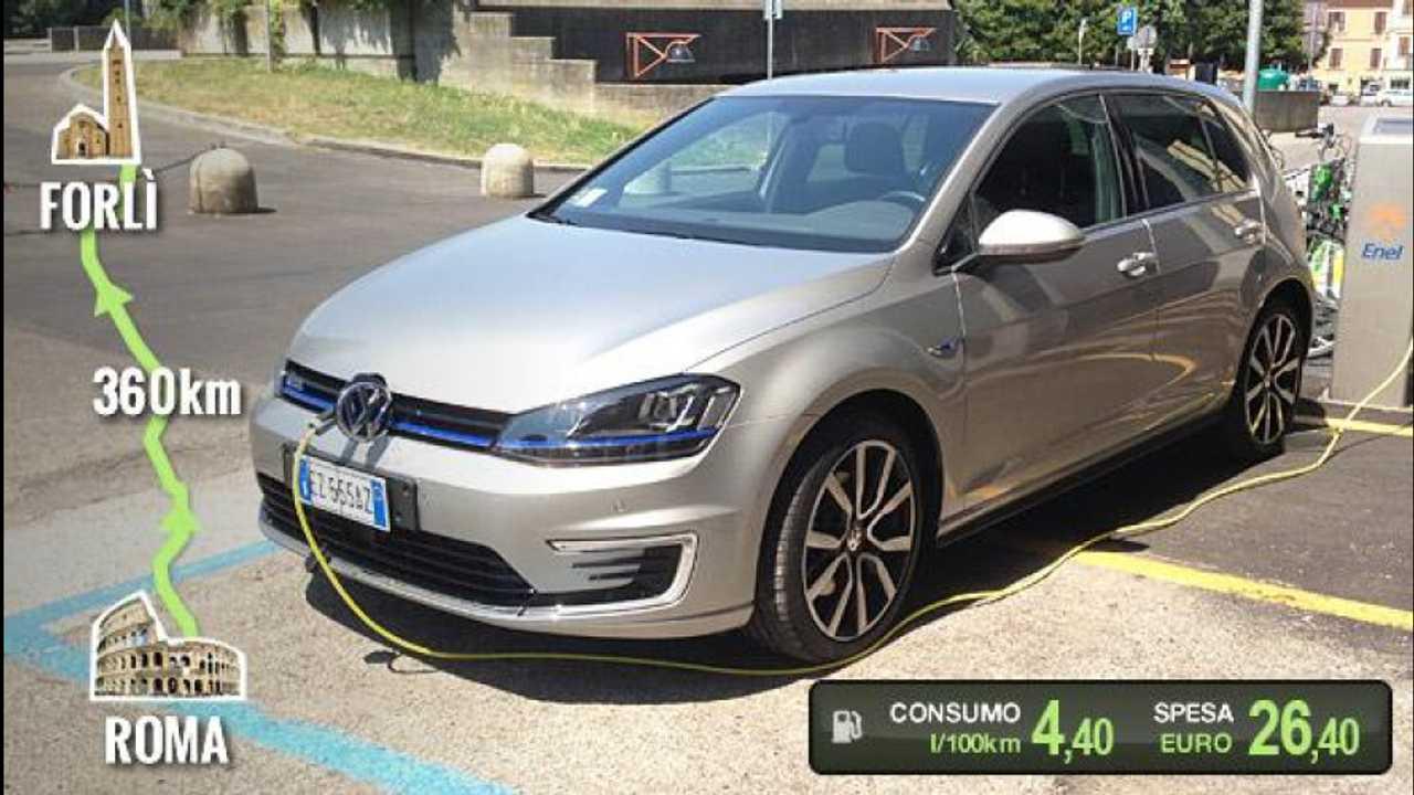 [Copertina] - Volkswagen Golf GTE, la prova dei consumi reali