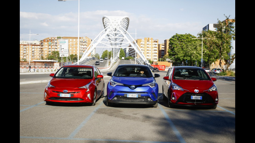 Toyota ibride, la prova di Yaris e C-HR [VIDEO]