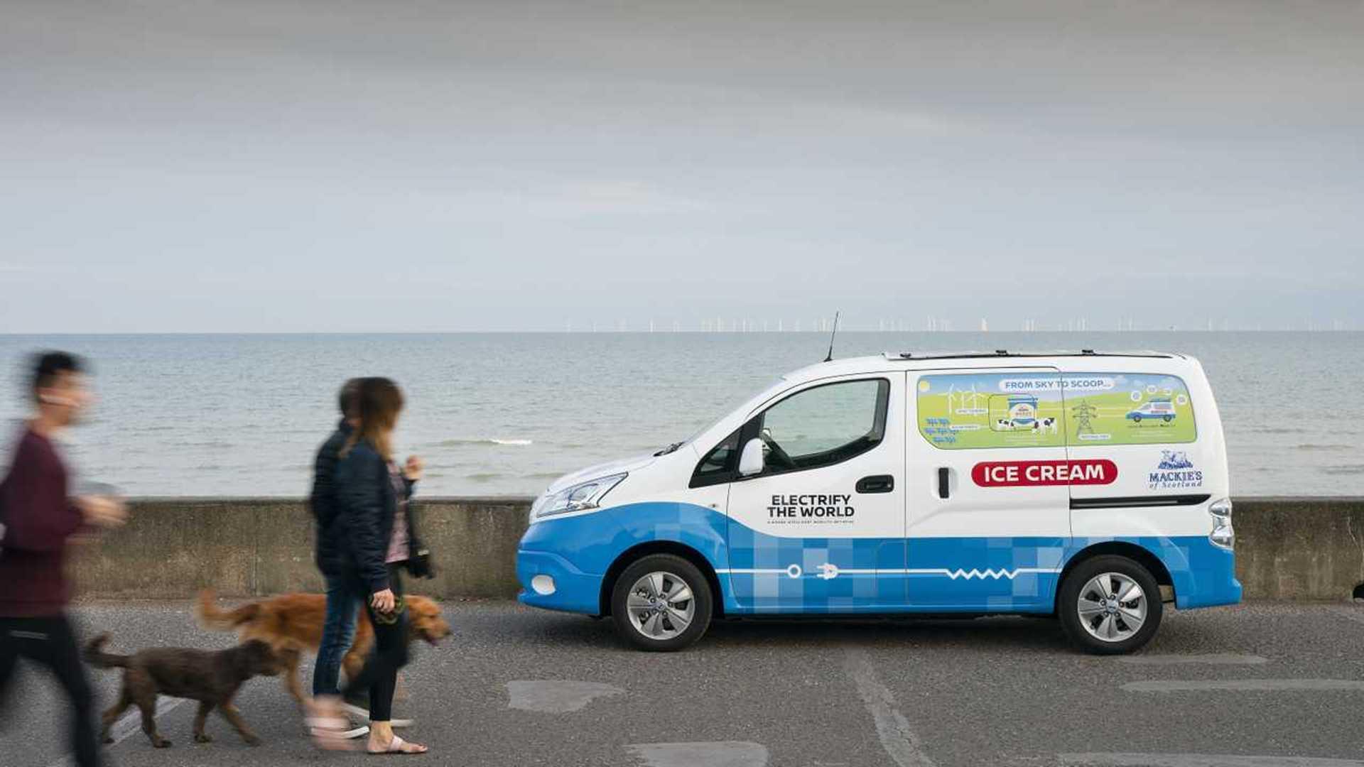 Nissan elektrikli dondurma kamyoneti