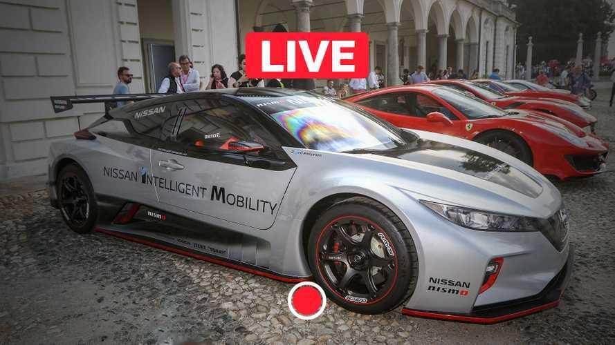 Nissan Leaf Nismo RC dal vivo in Italia a Parco Valentino