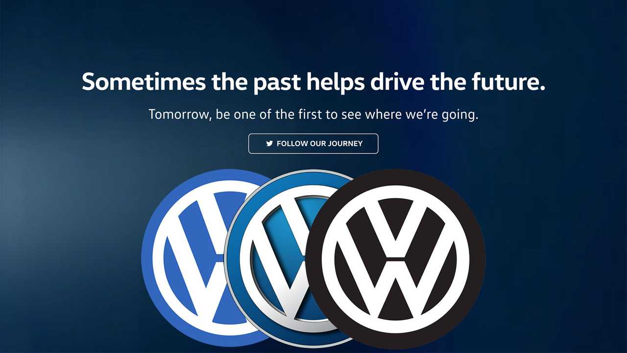 vw announcing  big tomorrow logo change