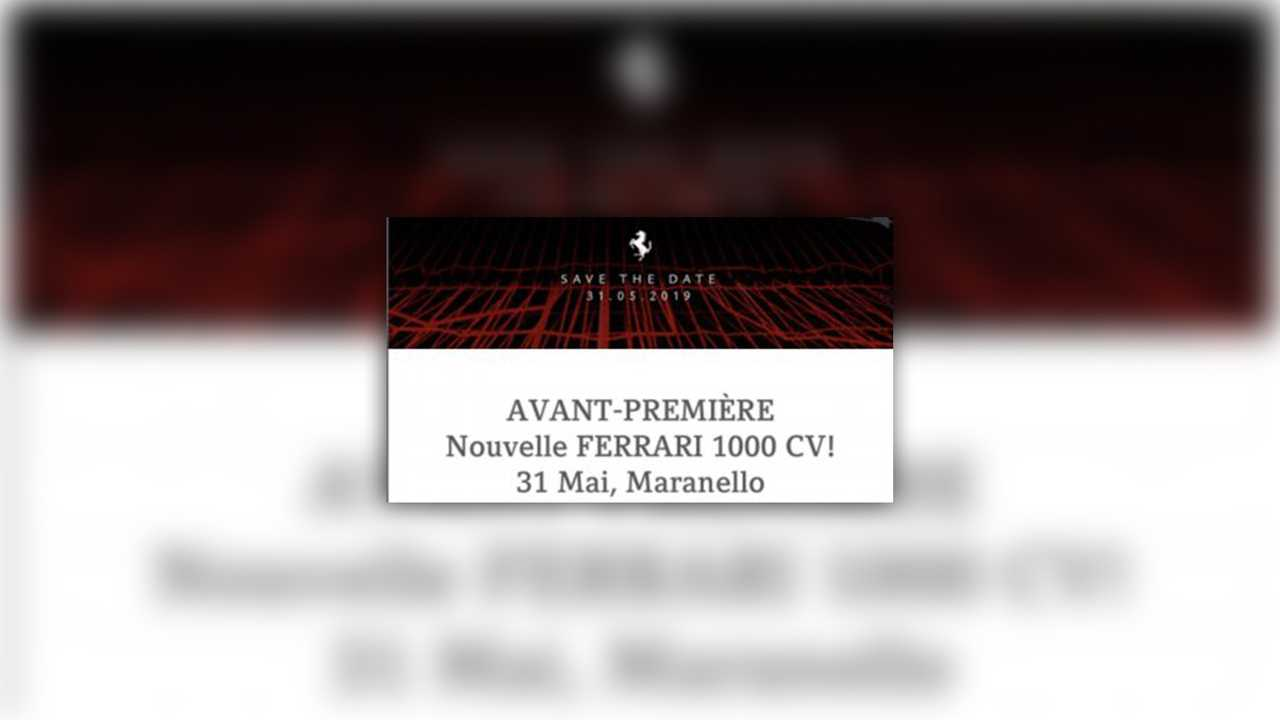 986-Horsepower Ferrari Reveal Invitation