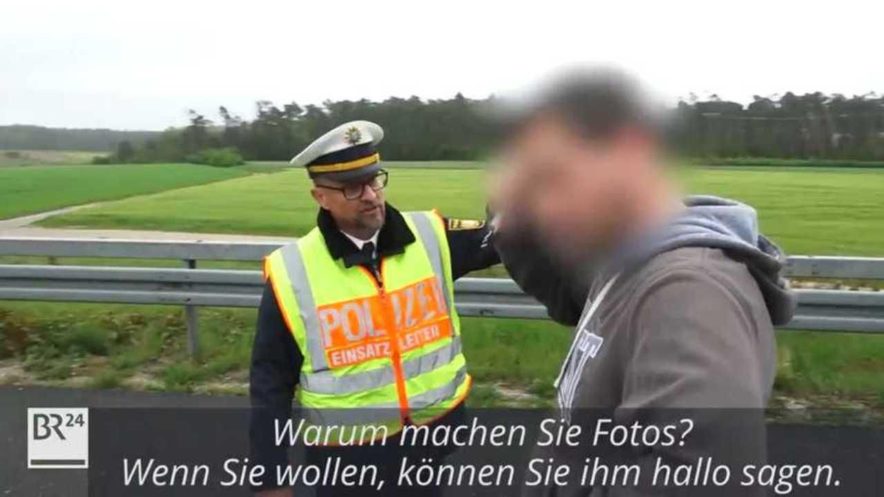 German police officer goes viral for crash response