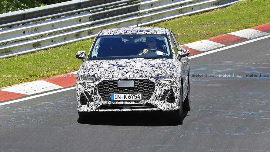 Audi Q4 spy photos at the Nurburgring
