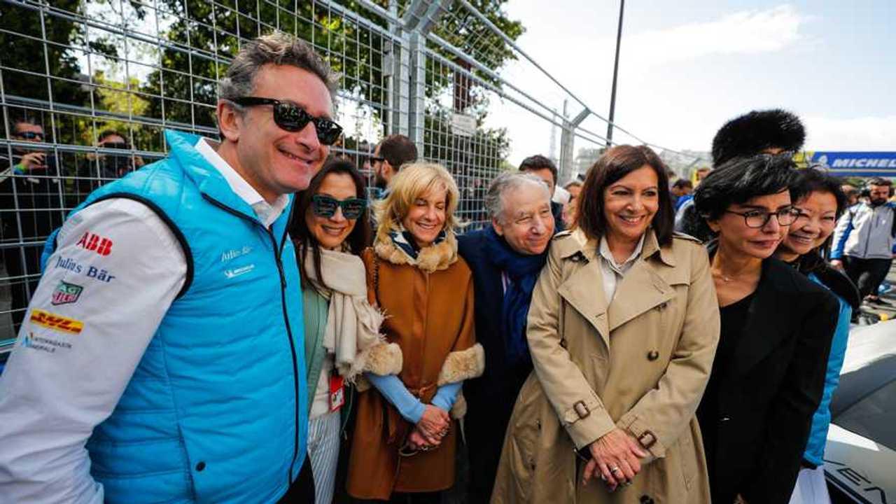 Alejandro Agag, CEO, Formula E, Jean Todt, FIA President, on the grid