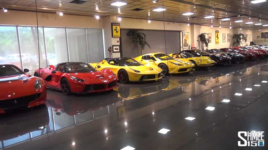 Epic car collection has 3 LFAs, 2 LaFerraris, and 7 Toyota 2000GTs