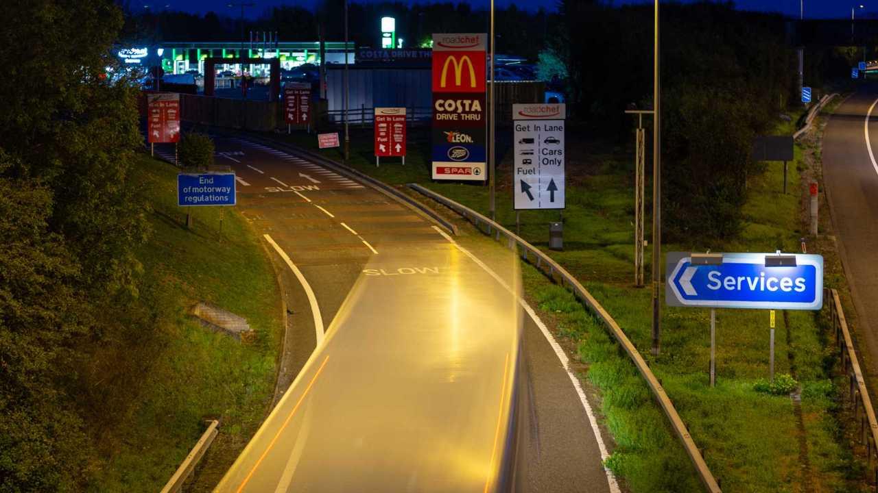 Strensham services on M5 motorway in Worcestershire