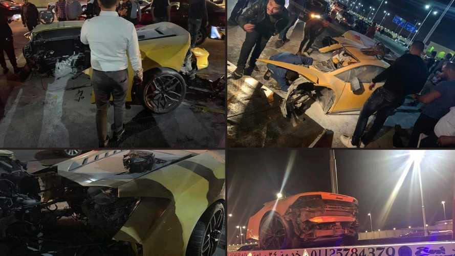 Kettészakadt egy Lamborghini Huracán, de gond nélkül kiszálltak belőle