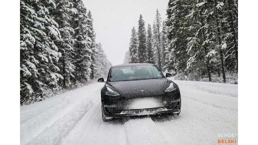 'Tesla Model 3 In Snow' Doesn't Get Much Better Than This