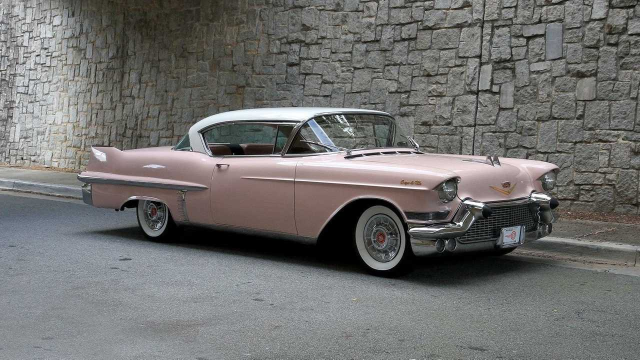 Mountain Laurel 1957 Cadillac Coupe DeVille Is Pinkalicious
