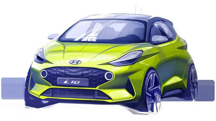 Hyundai i10 (2019): Erste Skizze der Neuauflage