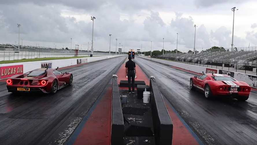 Ford GT Drag Races Ford GT In Battle Of Generations