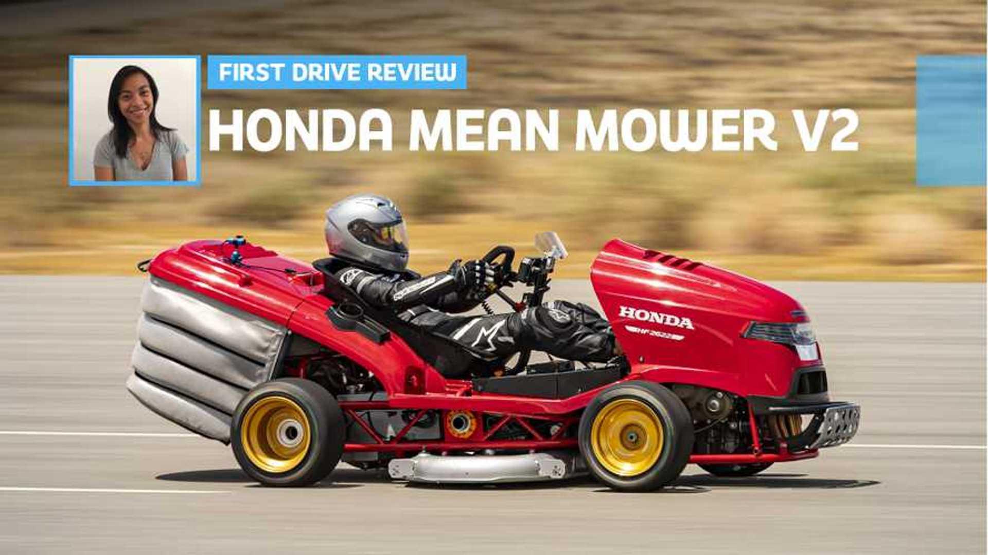 Honda Mean Mower V2 First Drive Hauling Grass
