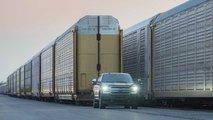 elektricheskij ford f 150 uvez na buksire 10 vagonov gruzhenykh pikapami