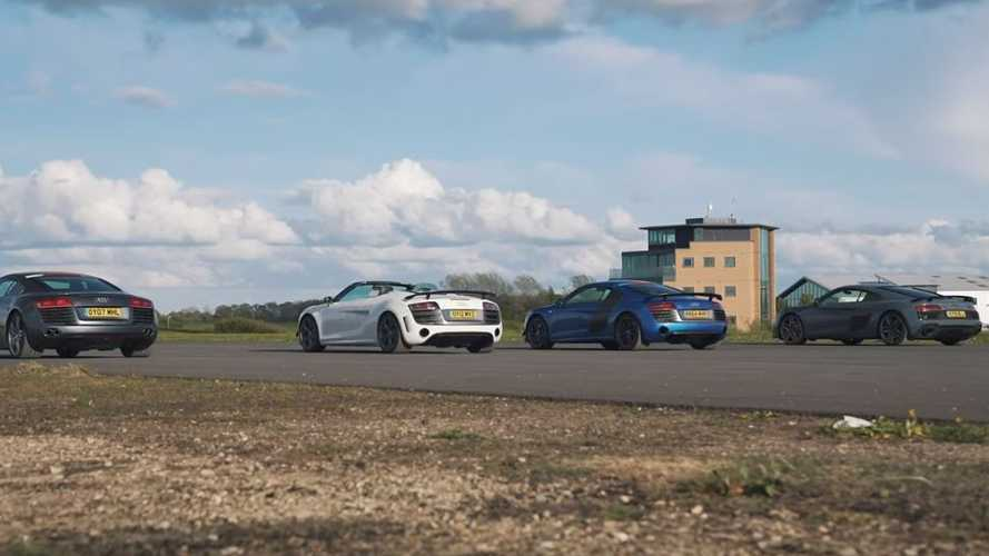 VIDÉO - Duel de choc entre plusieurs versions de l'Audi R8