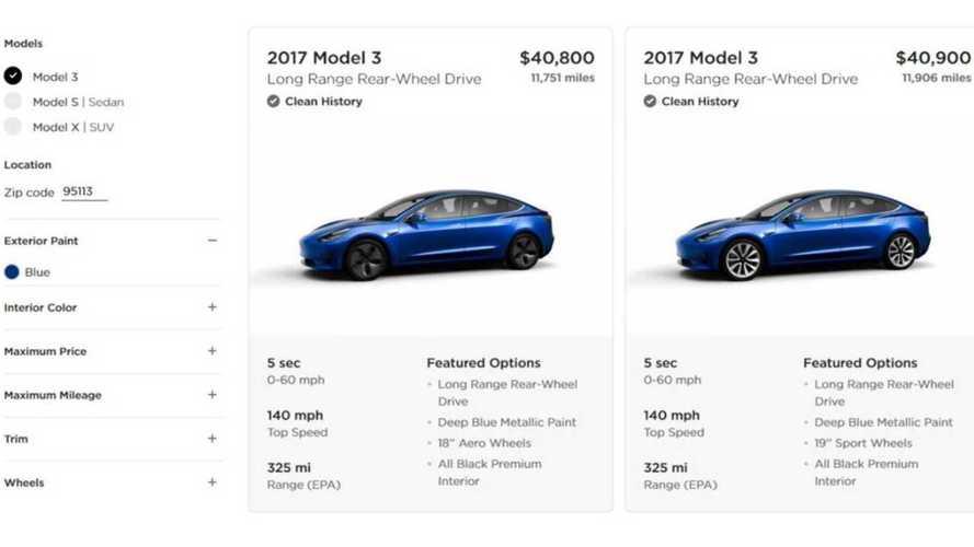 Tesla vend (aussi) des Model 3 d'occasion