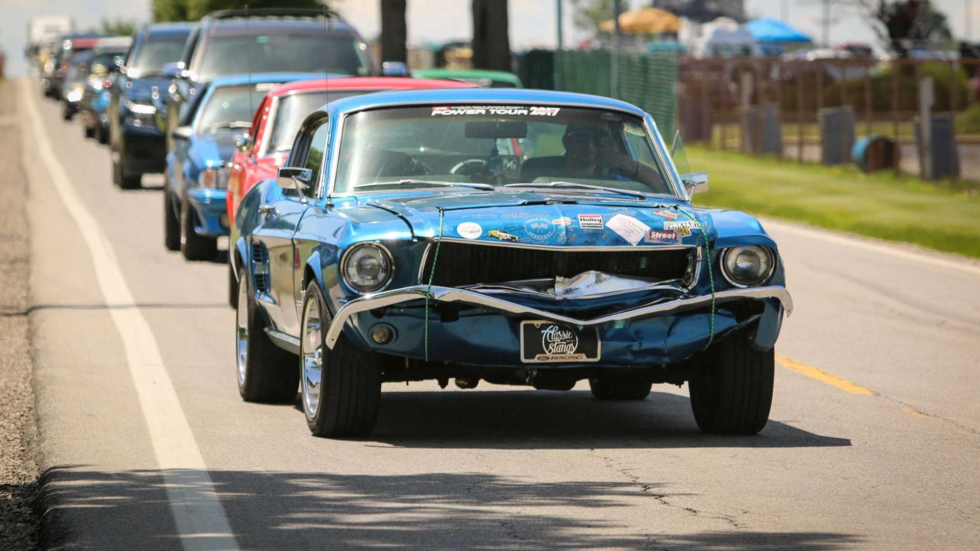 "[""Wrecked 1967 Ford Mustang Fastback Drives Entire Power Tour 2019""]"