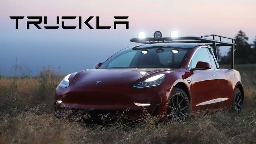 Watch This Tesla Model 3 Become A Pickup Truck Called Truckla