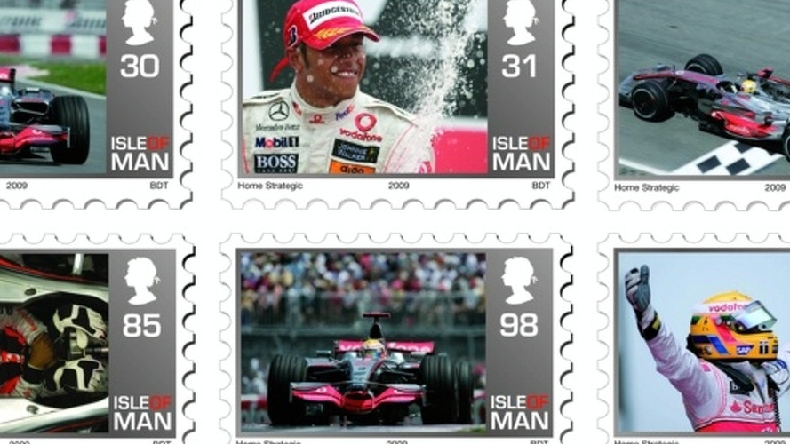 Lewis Hamilton Immortalized on Isle of Man postage stamp