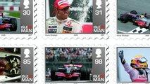 Lewis Hamilton Isle of Man postage stamps 2009