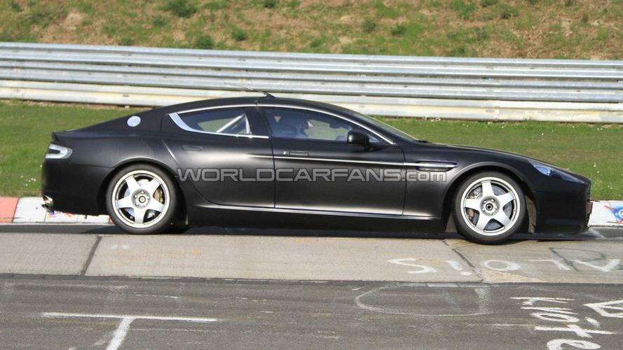 Race prepped Aston Martin Rapide Spied on Nurburgring