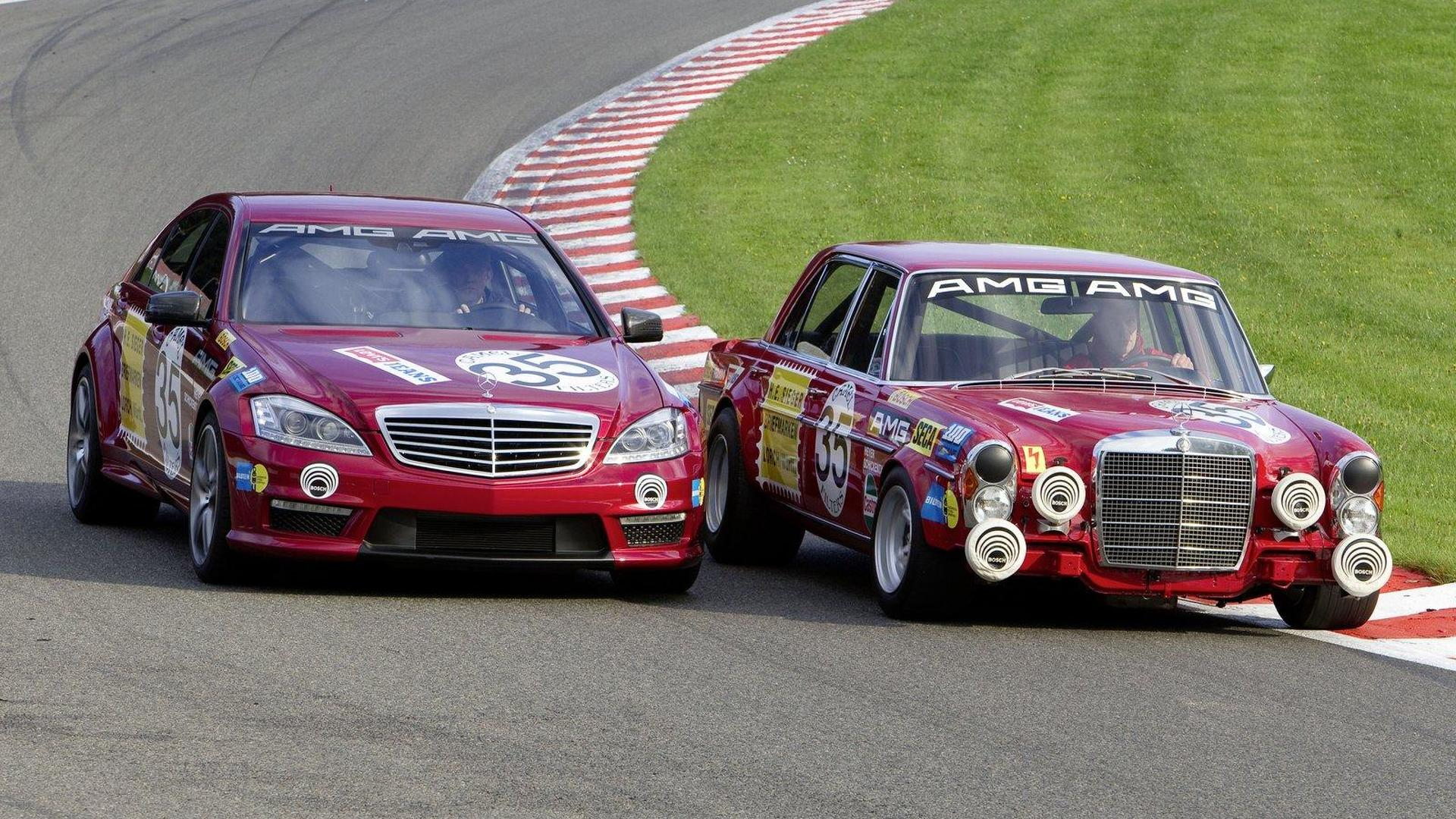 "Mercedes S 63 AMG ""Thirty-Five"" meets 300 SEL 6 8 AMG"