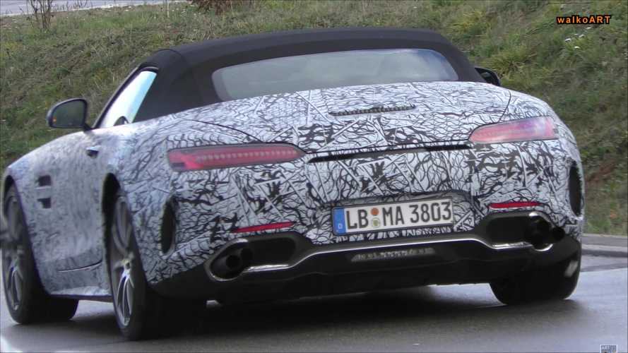 Mercedes-AMG GT Roadster Spied Testing With Stacked Exhausts