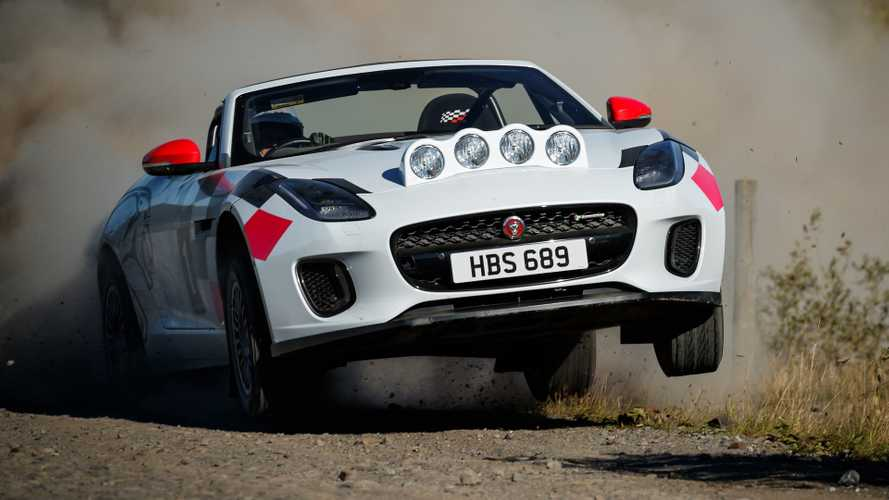 Jaguar F-Type rally car conversion pays tribute to classic XK 120