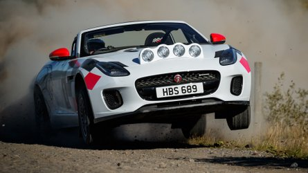 Jaguar F-Type Convertible Rally Cars Pay Tribute To XK 120