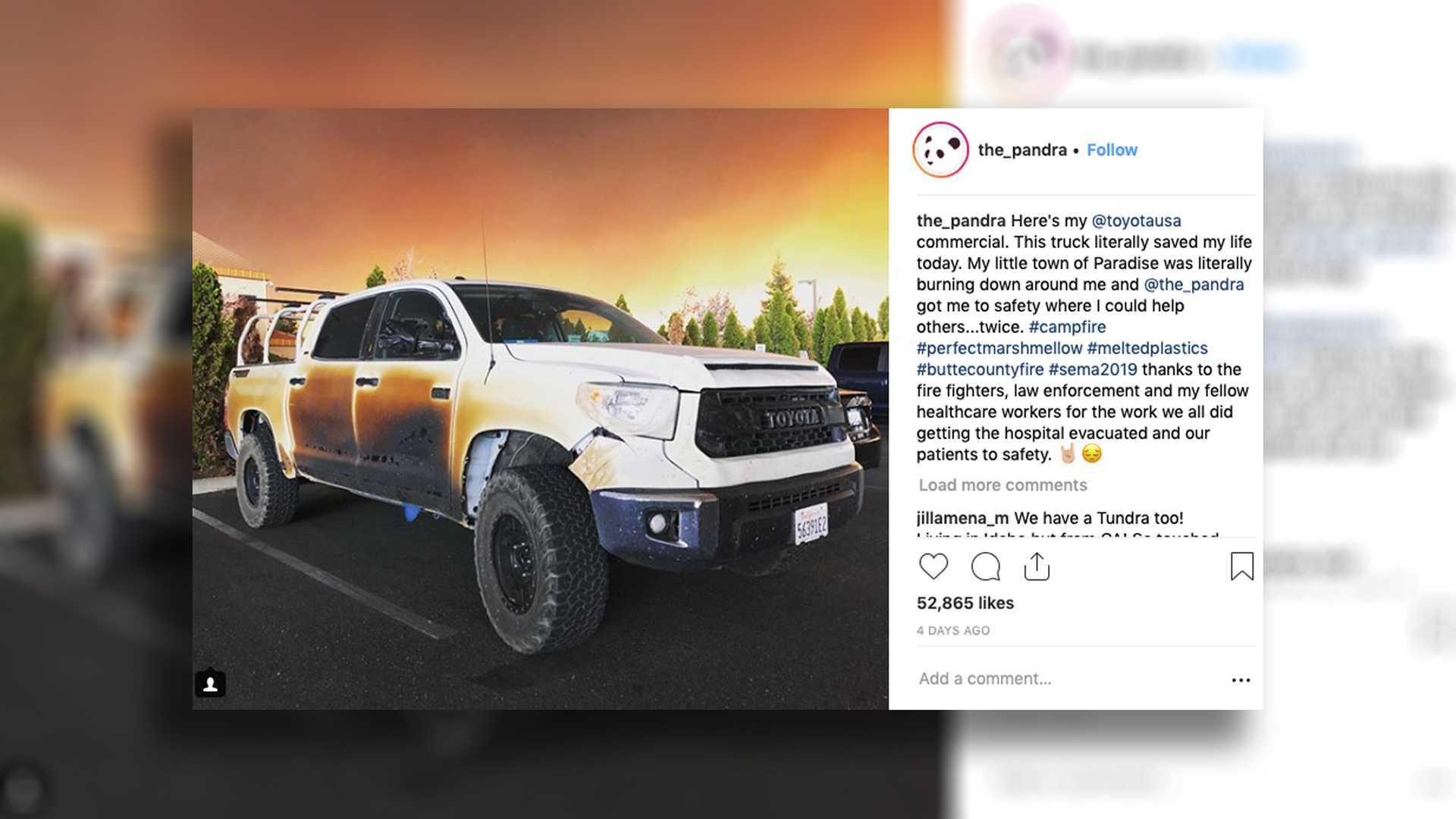 Toyota Replacing Nurses Burnt Tundra As Reward For His Bravery