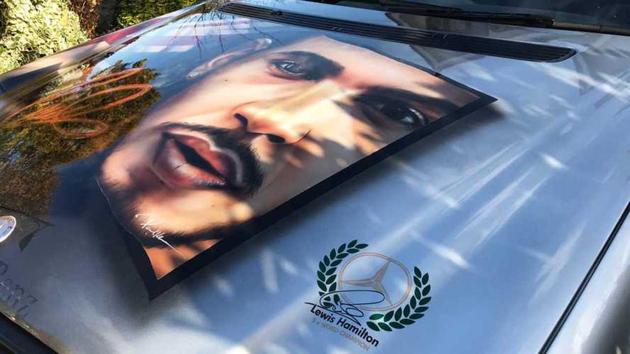 Lewis Hamilton art car