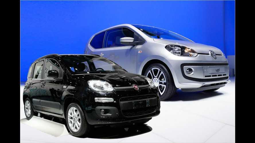 Fiat Panda und VW Up im Innenraumvergleich