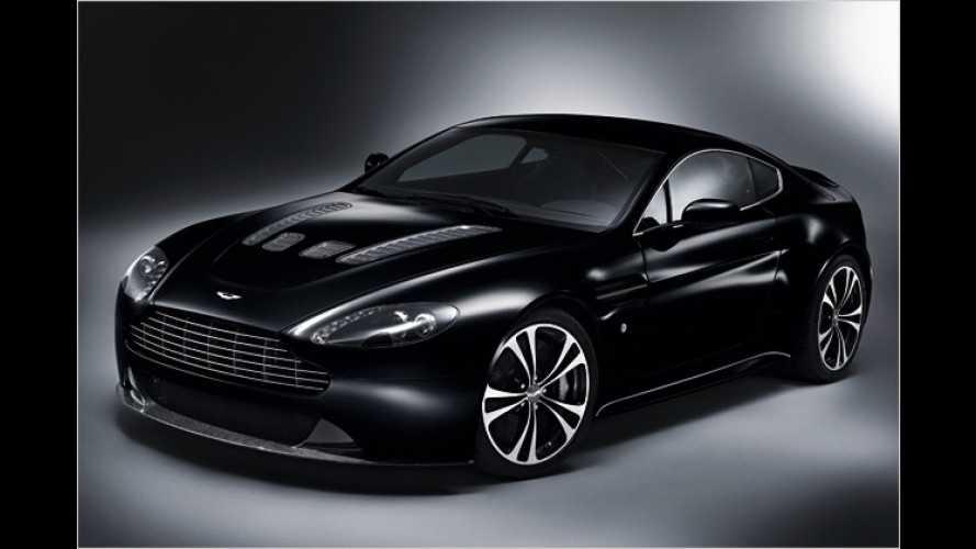 Aston Martin DBS und V12 Vantage als schwarze Sportler