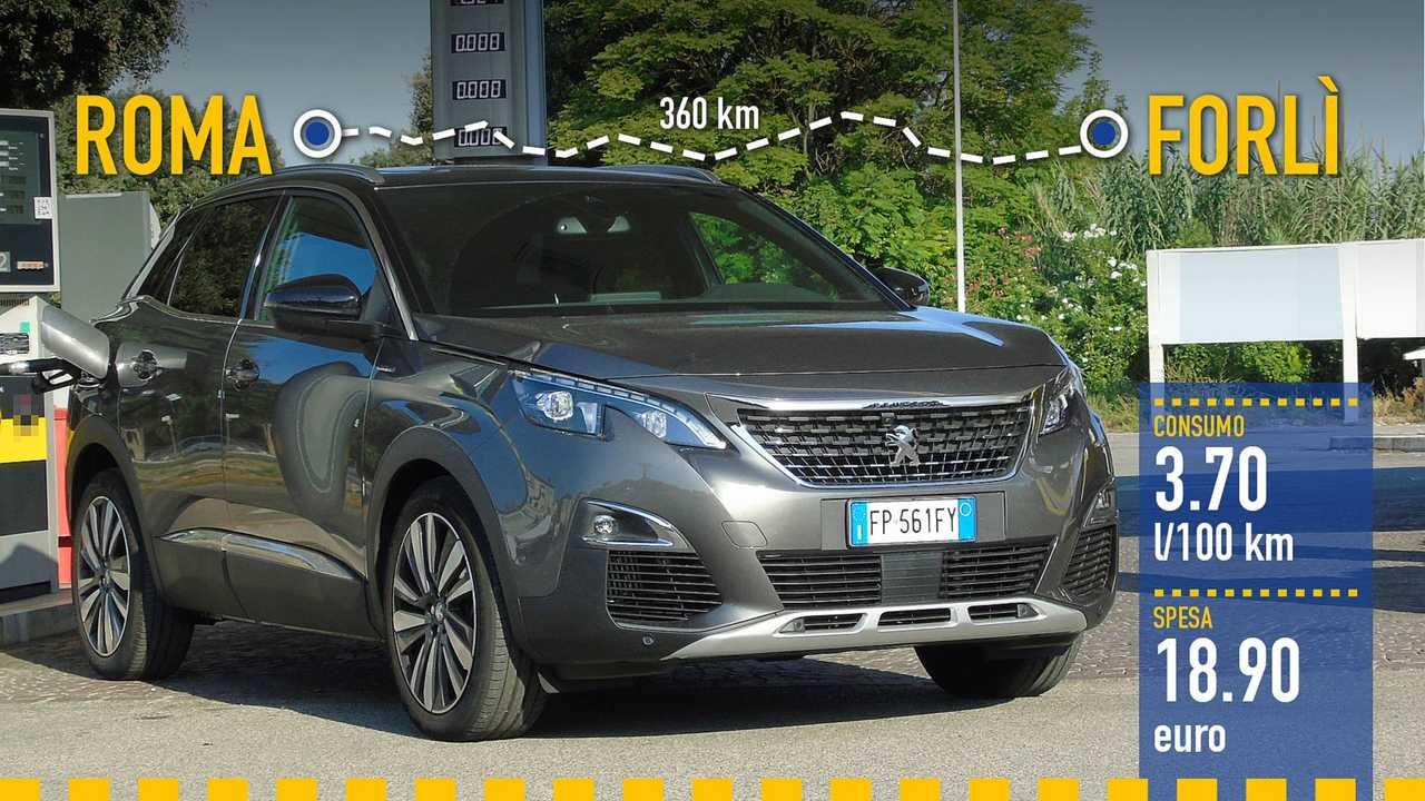 Peugeot 3008 BlueHDi, la prova consumi