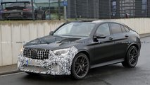 2020 Mercedes-AMG GLC 63 Coupe facelift spy photo