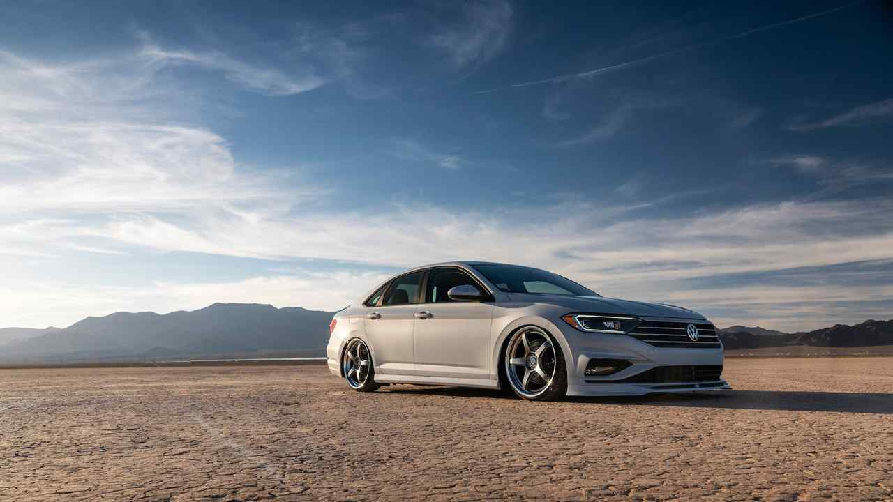 A Jetta riding low