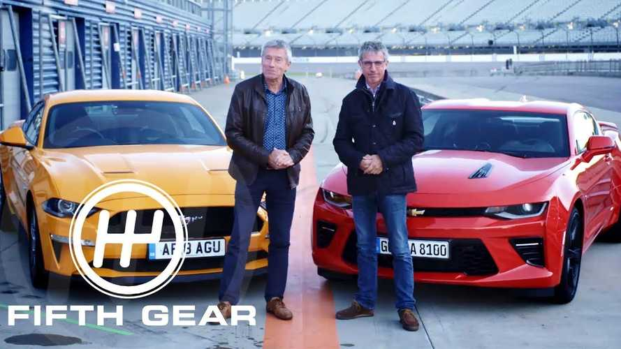 Fifth Gear compares Ford Mustang GT to Chevy Camaro