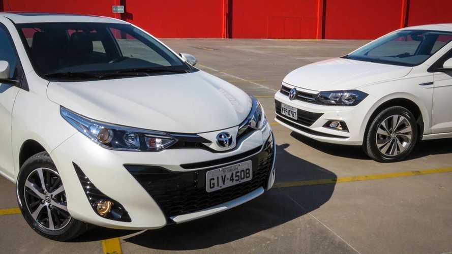 VW Gol cresce, Polo e Toyota Yaris caem: veja as vendas em setembro
