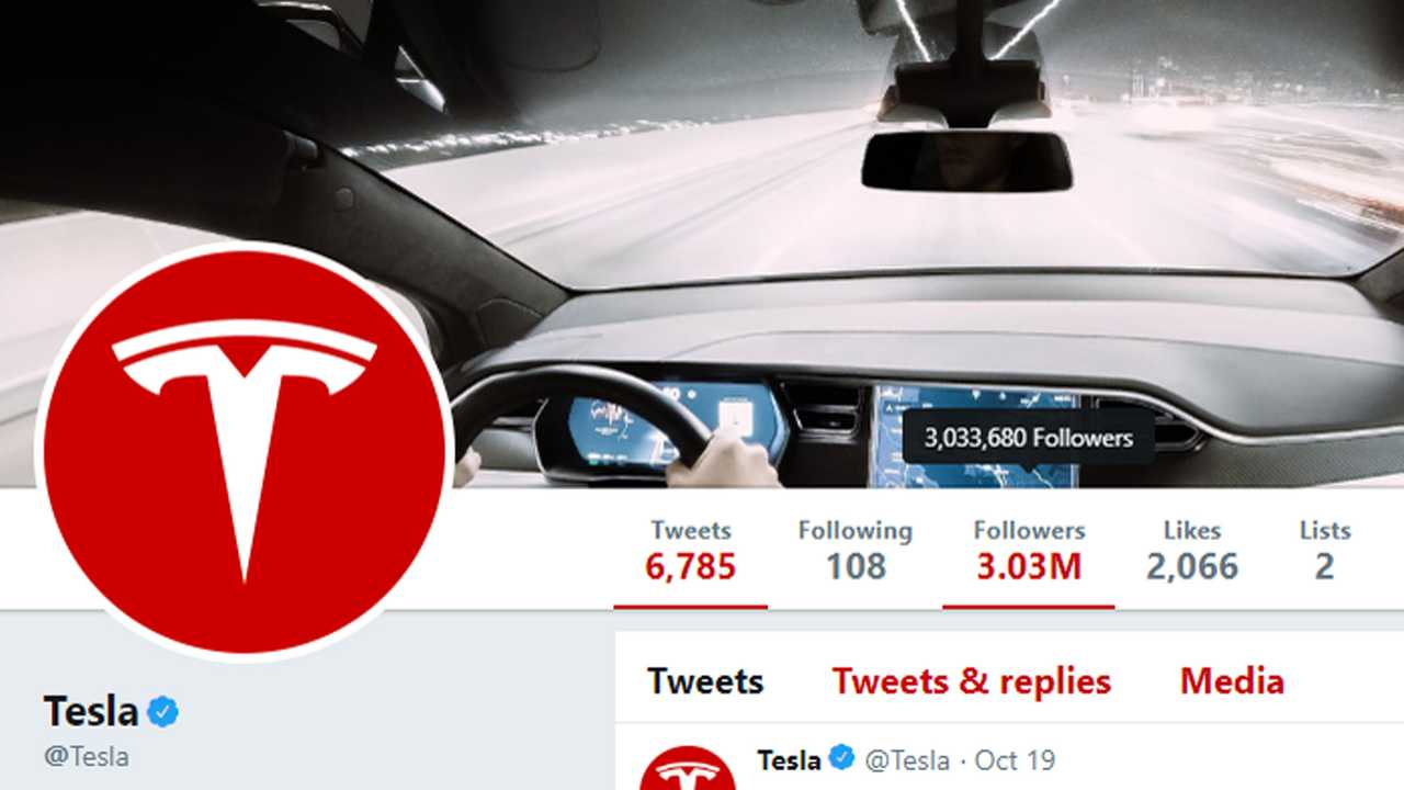 Tesla Followers October 22, 2018