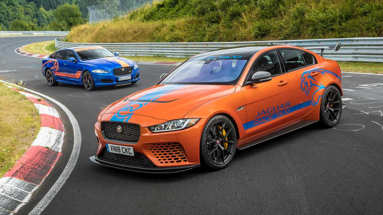 Jaguar XE Project 8 Nurburgring taxi