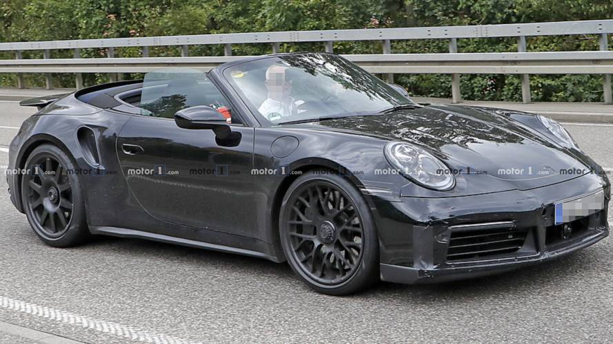 Next Porsche 911 Turbo Convertible Spied Rolling With Its Top Off