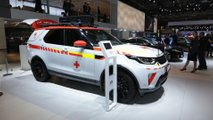 Land Rover Discovery Red Cross Emergency Response Vehicle at the Paris Motor Show
