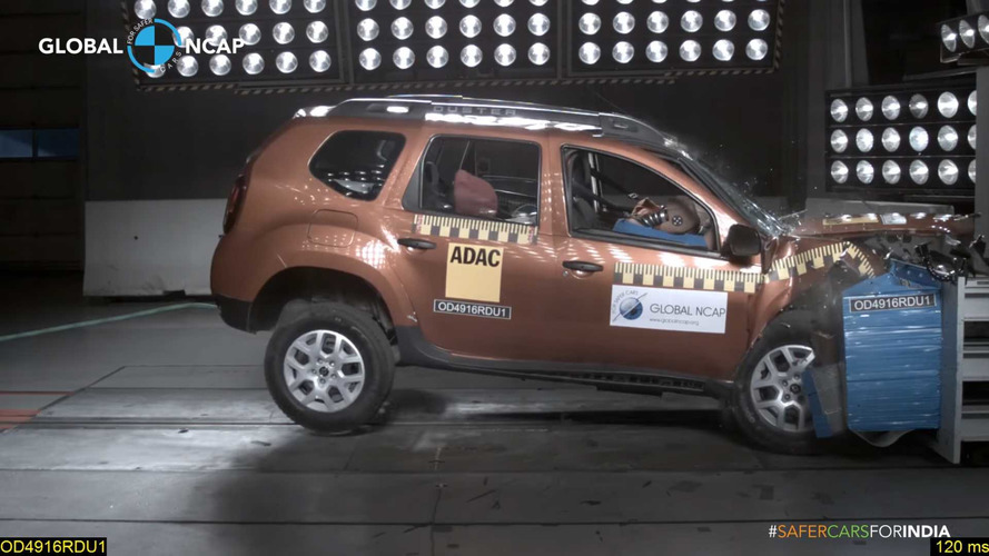 Renault Duster crash-test Inde