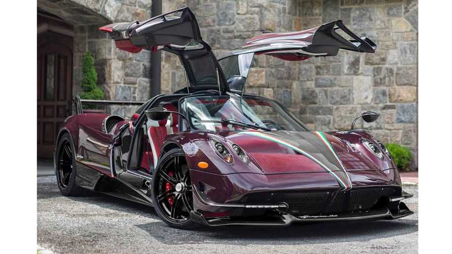 PHOTOS - Une unique Pagani Huayra BC carbone rouge aux USA