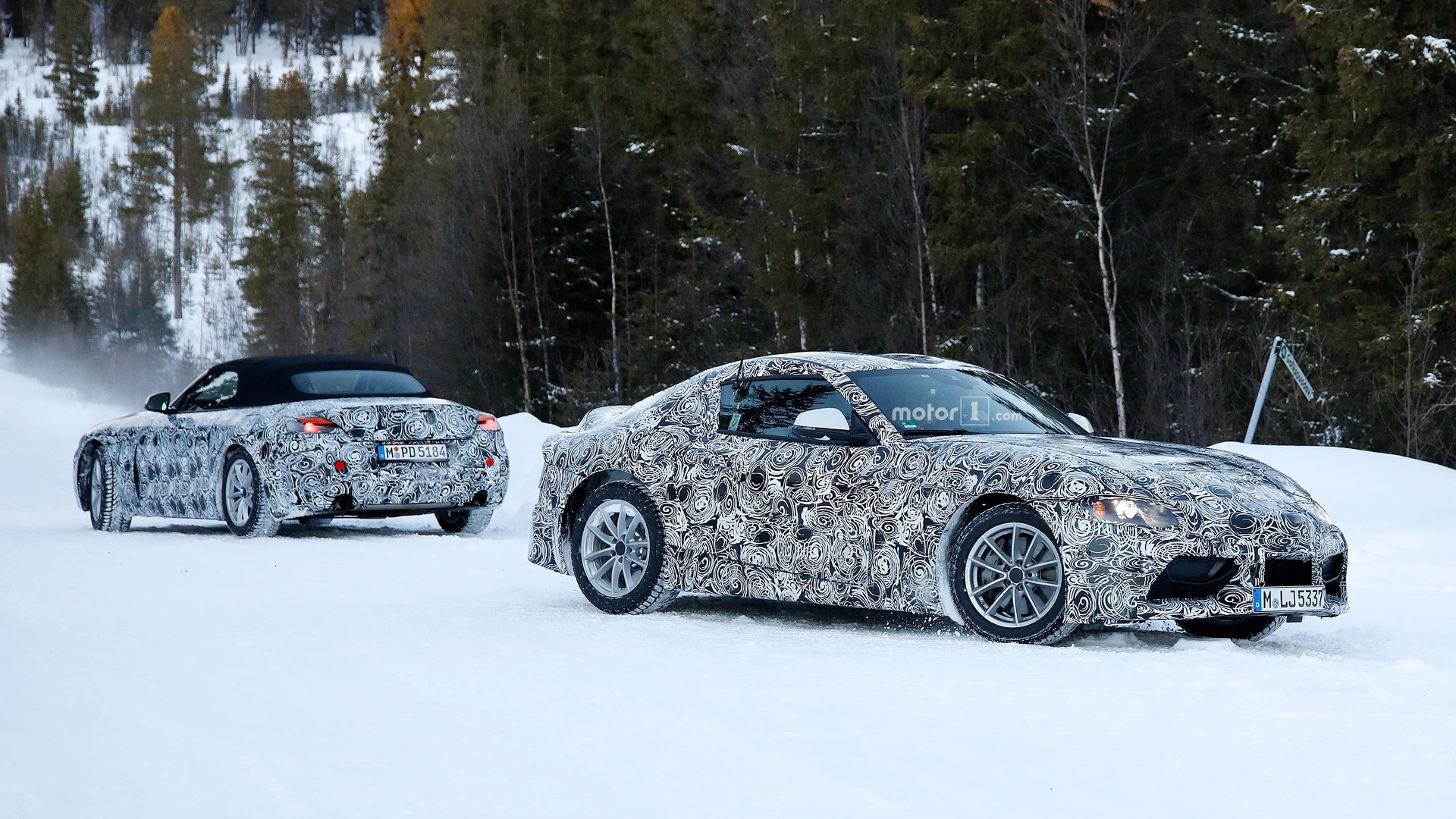 Bmw Toyota Supra >> Future Toyota Supra And Bmw Z5 Spied Together In The Snow